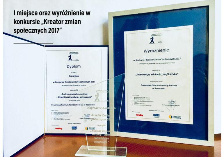 """""""Rodzina niejedno ma imię - Dzień Rodzicielstwa Zastępczego"""" - I miejsce w kategorii: mała inicjatywa do 10 000 zł za projekt"""