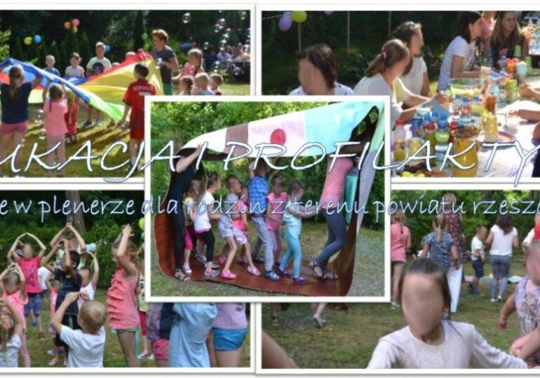 EDUKACJA I PROFILAKTYKA Spotkanie w plenerze dla rodzin z terenu powiatu rzeszowskiego