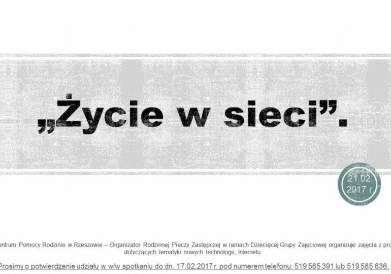 """Dziecięca Grupa Zajęciowa - ,,Życie w sieci"""""""